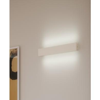 Applique Ortisei LED integrato bianco/verniciabile, in gesso, 2 luci