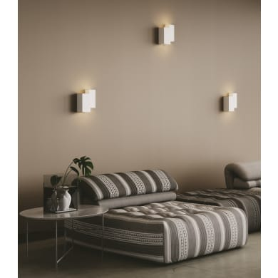 Applique design Foster bianco, in gesso, 4 luci