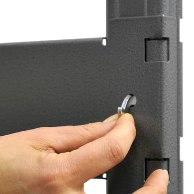 Scaffale in metallo in kit Kompos L 200 x P 50 x H 60 cm