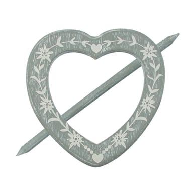 Fermatenda Spilla cuore grigio