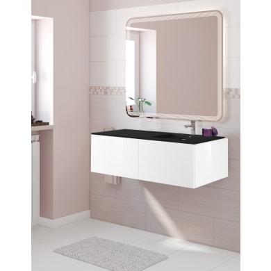 Mobile bagno Neo line bianco L 120 cm