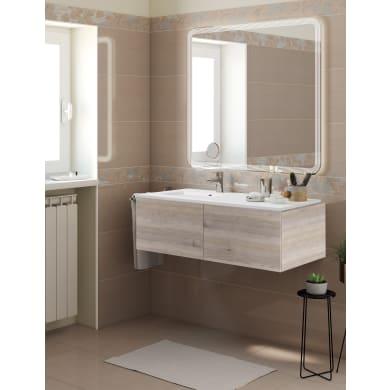 Mobile bagno Neo line rovere grigio L 120 cm
