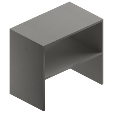 Mobile lavanderia Jnka grigio laminato L 66 x P 40 x H 60 cm