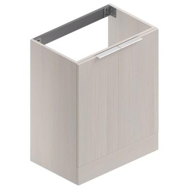 Mobile lavanderia Jka041 larice bianco laminato L 70 x P 45 x H 89 cm