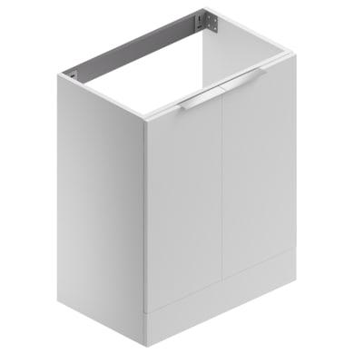 Mobile lavanderia Jnka bianco lucido laccato L 70 x P 45 x H 89 cm