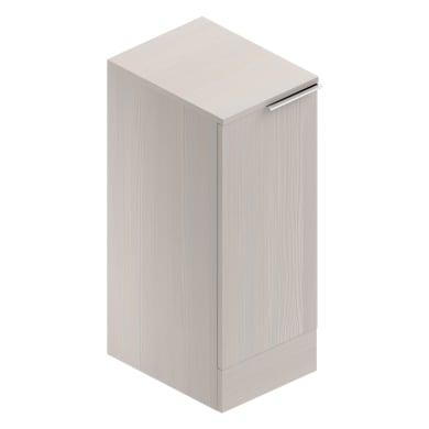 Mobile lavanderia Jnka larice bianco laminato L 35 x P 45 x H 91 cm