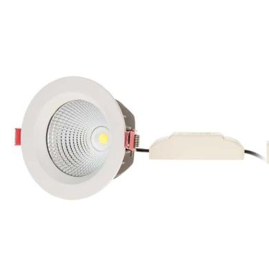 Faretto fisso da incasso tondo ZE1210WN60  in Alluminio bianco, diam. 11 cm LED integrato 10W 850LM IP20
