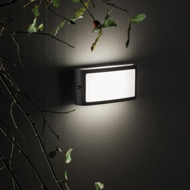 Applique Screen LED integrato  in alluminio, grigio, 10W 700LM IP65 SOVIL