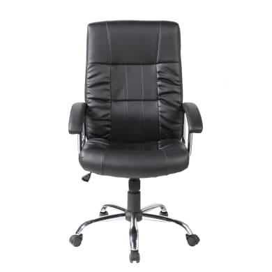 Sedia da ufficio con braccioli Baltimora nero