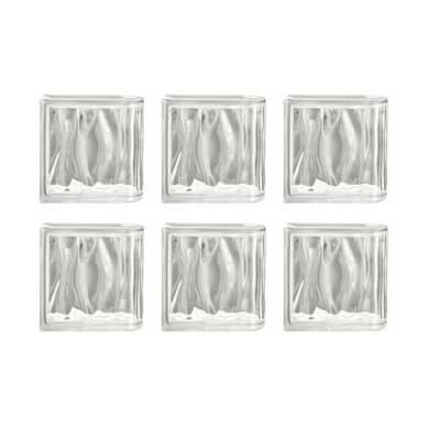 Terminale vetromattone liscio L 19 x H 19 x Sp 8 cm6 pezzi