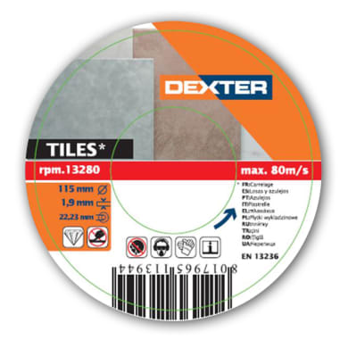Disco diamantato continuo DEXTER 4110510-283 Ø 115 mm