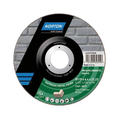 Disco per sbavo NORTON per pietra Ø 115 mm
