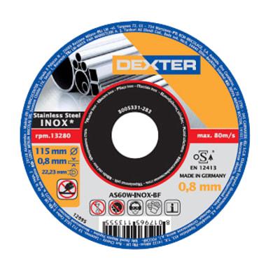 Disco di taglio DEXTER as46tinox per inossidabile Ø 115 mm