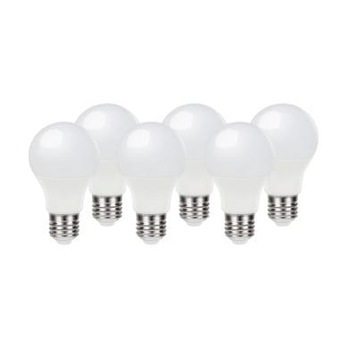 Lampadina LED E27, Bolla, Opaco, Bianco, Luce calda, 9.7W=806LM (equiv 60 W), 220° , LEXMAN , set di 6 pezzi
