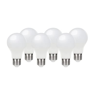 Lampadina LED E27, Bolla, Opaco, Bianco, Luce naturale, 9.7W=806LM (equiv 60 W), 220° , LEXMAN , set di 6 pezzi