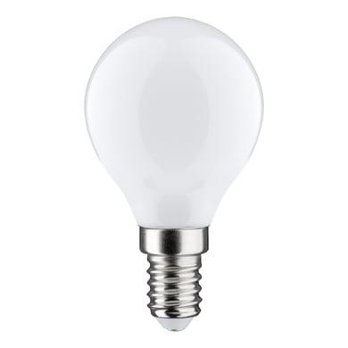 Lampadina LED filamento, E14, Sferico, Opaco, Luce calda, 5.5W=600LM (equiv 48 W), 360° , LEXMAN