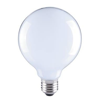 Lampadina LED filamento, E27, Globo, Opaco, Luce naturale, 8W=1055LM (equiv 75 W), 360° , LEXMAN
