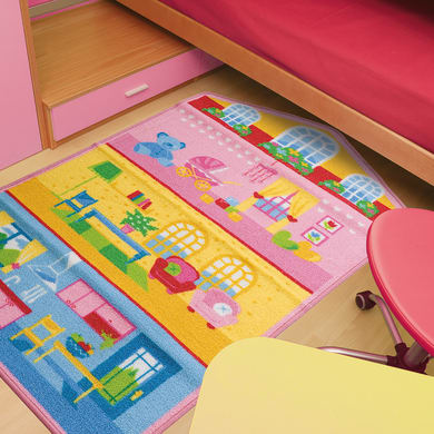 Tappeto Bimba Dollhouse Actline , multicolor, 133x190