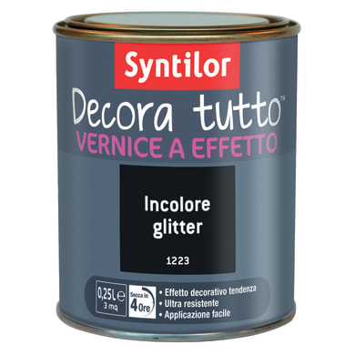 Vernice SYNTILOR Decora tutto 0.25 L incolore glitterato