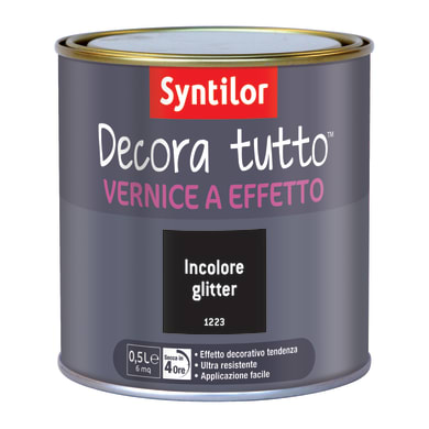 Vernice SYNTILOR Decora tutto 0.5 L incolore glitterato