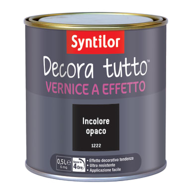 Vernice SYNTILOR Decora tutto 0.5 L incolore opaco