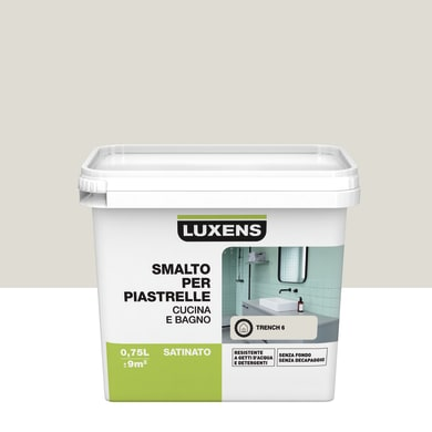 Smalto per piastrelle LUXENS 0.75 l marrone trench 6