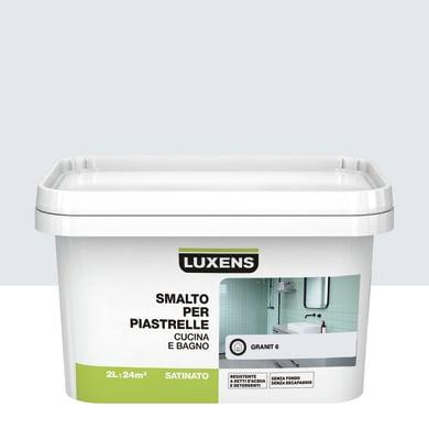 Smalto per piastrelle LUXENS 2 l bianco granit 6