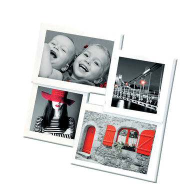 Cornice Easy4 per 4 fotografie 10 x 15  bianco