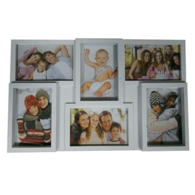 Cornice Easy6 per 6 fotografie 10 x 15 bianco