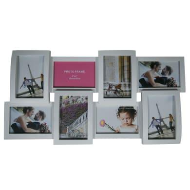 Cornice Easy plastik per 8 fotografie 10 x 15 bianco