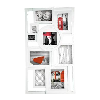 Cornice Mosaic per 9 fotografie 13 x 18 cm, 10 x 15 cm, 13 x 13 cm, 5 x 7 cm bianco