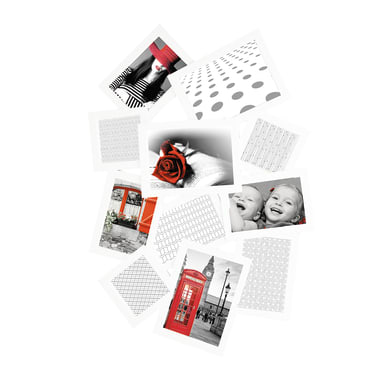 Cornice Storty per 11 fotografie 13 x 18  bianco