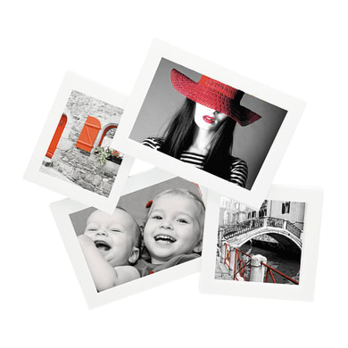 Cornice Storty per 4 fotografie 10 x 15 bianco