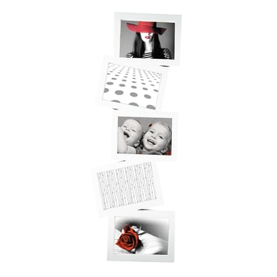 Cornice Storty per 5 fotografie 13 x 18  bianco