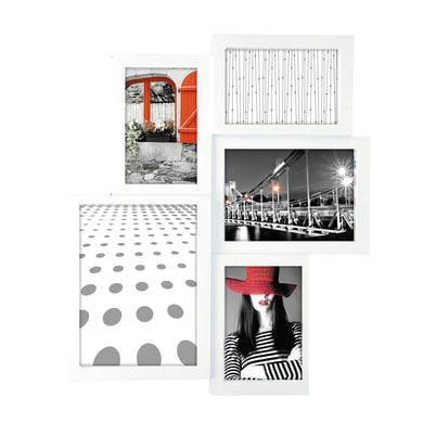 Cornice World per 5 fotografie 10 x 15 bianco