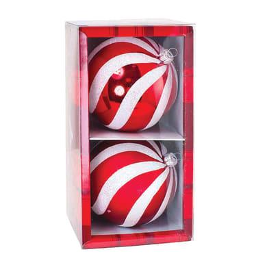Sfera natalizia Ø 8 cm confezione da 2 pezzi