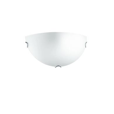 Applique classico Oblo bianco, in vetro, 15x30 cm,