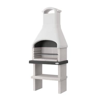 Barbecue in cemento refrattario PALAZZETTI Dany con cappa L 59 x P 59 x H 216 cm