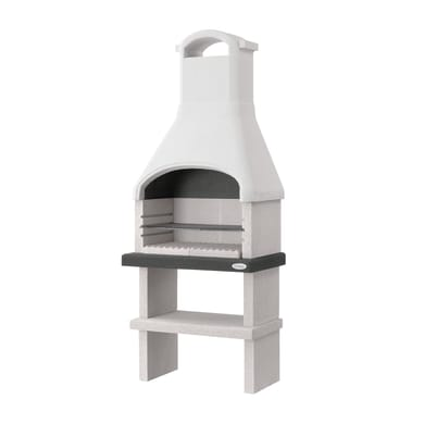 Barbecue in cemento refrattario PALAZZETTI Dany con cappa L 80 x P 59 x H 216 cm