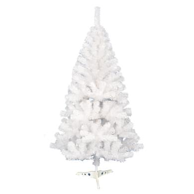 Albero di natale artificiale opaco bianco H 150 cm