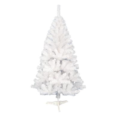Albero di natale artificiale opaco bianco H 210 cm
