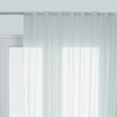 Tenda Polyone bianco fettuccia e passanti 300x280 cm