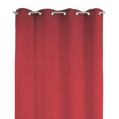 Tenda Attila rosso occhielli 140 x 280 cm