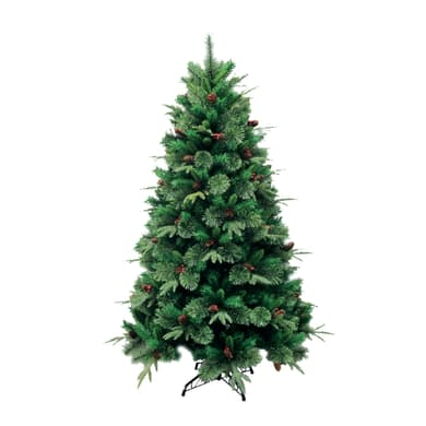 Albero di natale artificiale Cortina verde H 210 cm