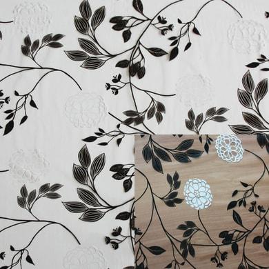 Tovaglia INSPIRE Cristallo ramage bianco e nero 140x220 cm