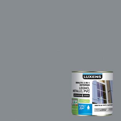Smalto LUXENS base acqua grigio sasso 3 0.5 L