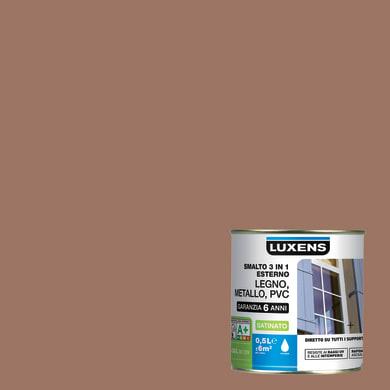 Smalto LUXENS base acqua marrone talpa 3 0.5 L