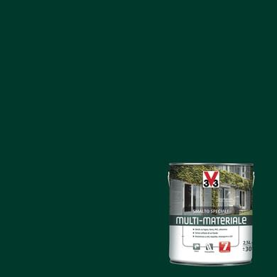 Smalto V33 base solvente verde ral 6005 0.5 L
