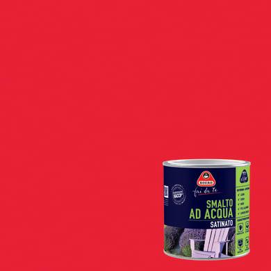Smalto BOERO FAI DA TE base acqua rosso ciliegia 0.5 L