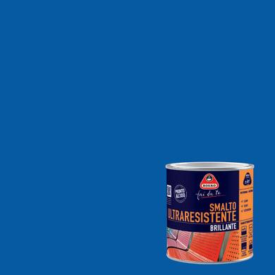 Smalto BOERO FAI DA TE base solvente blu elettrico 0.5 L